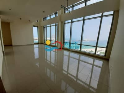 2 Bedroom Apartment for Rent in Corniche Area, Abu Dhabi - Duplex Fully Sea View 2 BR Nation Tower( 0% Fee)