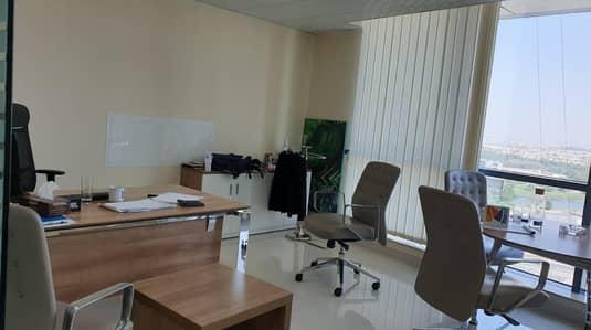 مکتب  للايجار في أبراج بحيرات الجميرا، دبي - FITTED OFFICE WITH 2 PARTITIONS NEAR METRO IN JLT