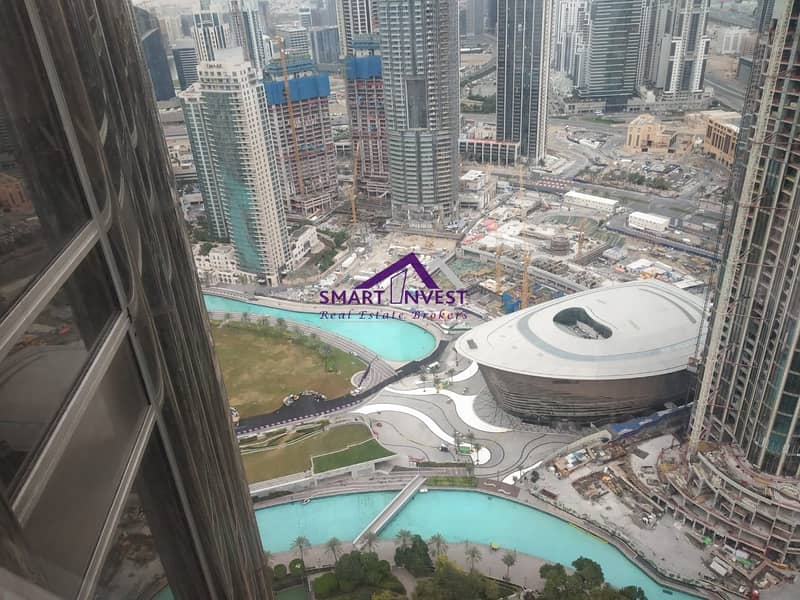Spacious and Beautiful unfurnished 1 BR for sale in Burj Khalifa for AED  1.8M