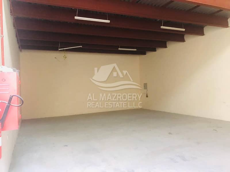 2100 sqft. available for rent with mezzanine in al jurf industrial area ajman