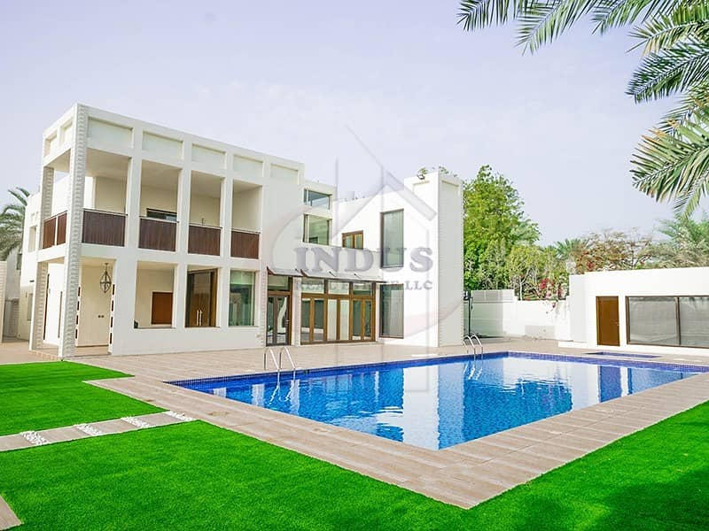 Elegant 5BR+M  Villa in Emirates Hills with Full Lake View | Exclusive