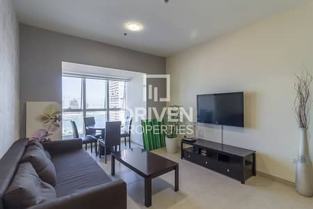 1 Bedroom Flat for Rent in Dubai Marina, Dubai - Fully Furnished Apartment with Full Sea View