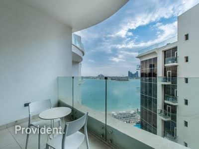 شقة فندقية 1 غرفة نوم للايجار في نخلة جميرا، دبي - Luxurious Hotel Apartment w/ Breathtaking Sea View