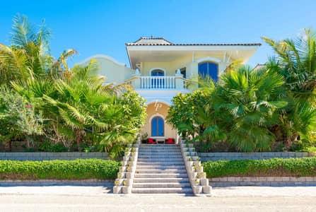 فیلا 4 غرف نوم للبيع في نخلة جميرا، دبي - Green Oasis on the Beach in Exceptional Condition