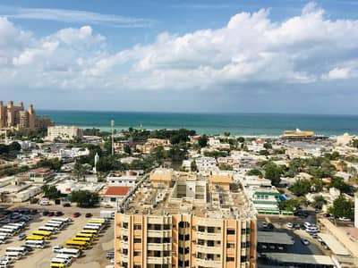 2 Bedroom Flat for Rent in Al Sawan, Ajman - amazing 2 bhk full sea view with free parking in Ajman one tower