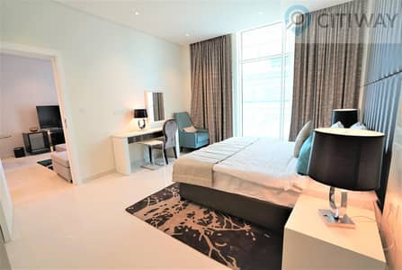 1 Bedroom Flat for Rent in Business Bay, Dubai - 1 BR | Partial Canal View | Fully Furnished