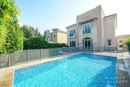 5 Bedroom Villa for Sale in Dubai Sports City, Dubai - C1 Five Bed | Pool | Backing Green Area