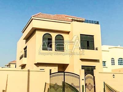 5 Bedroom Villa for Rent in Khalifa City A, Abu Dhabi - 5+M Standalone Villa | Stylish Pool | Backyard