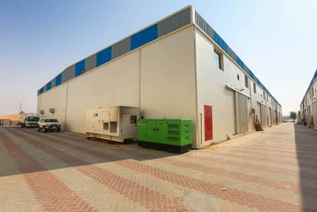 Warehouse for Rent in Emirates Modern Industrial Area, Umm Al Quwain - 120Kw Electric Power Brand New Warehouse for rent in UAQ