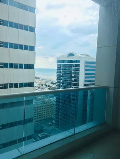 Studio for Rent in Al Sawan, Ajman - 1 bhk bigger size partial sea view for rent in Ajman 1 tower