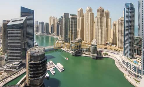 1 Bedroom Flat for Sale in Dubai Marina, Dubai - Investors Deal!! Fully Furnished and Serviced 1BR With Marina View