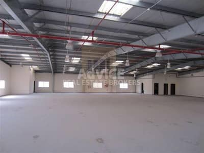 Warehouse for Rent in Dubai Industrial Park, Dubai - Warehouse I Built in Office I DIC