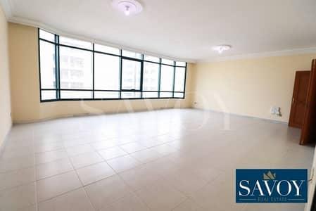 شقة 3 غرف نوم للايجار في الخالدية، أبوظبي - No Commission Fees - Spacious 3BR Flat City View.