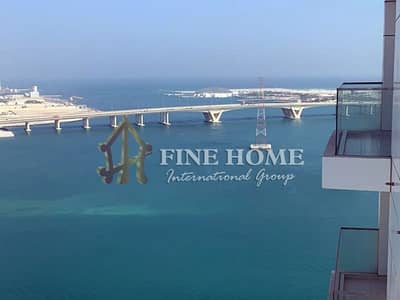 3 Bedroom Flat for Sale in Al Reem Island, Abu Dhabi - Amazing Sea View 3 BR + Maid Room + 2 Balcony
