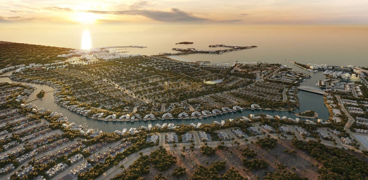 Villas for sale in the most beautiful place in Abu Dhabi (nature reserve) and premiums me for 8 years