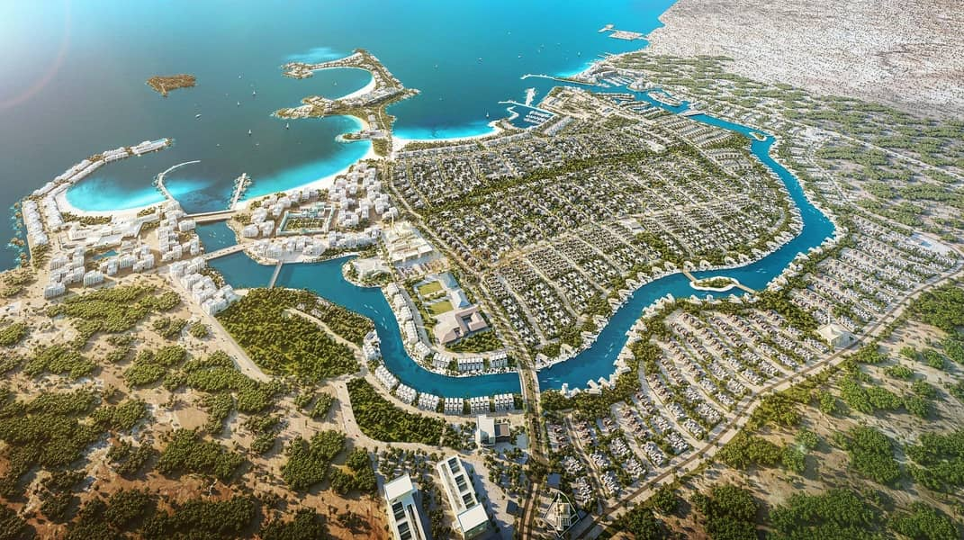 2 Villas for sale in the most beautiful place in Abu Dhabi (nature reserve) and premiums me for 8 years