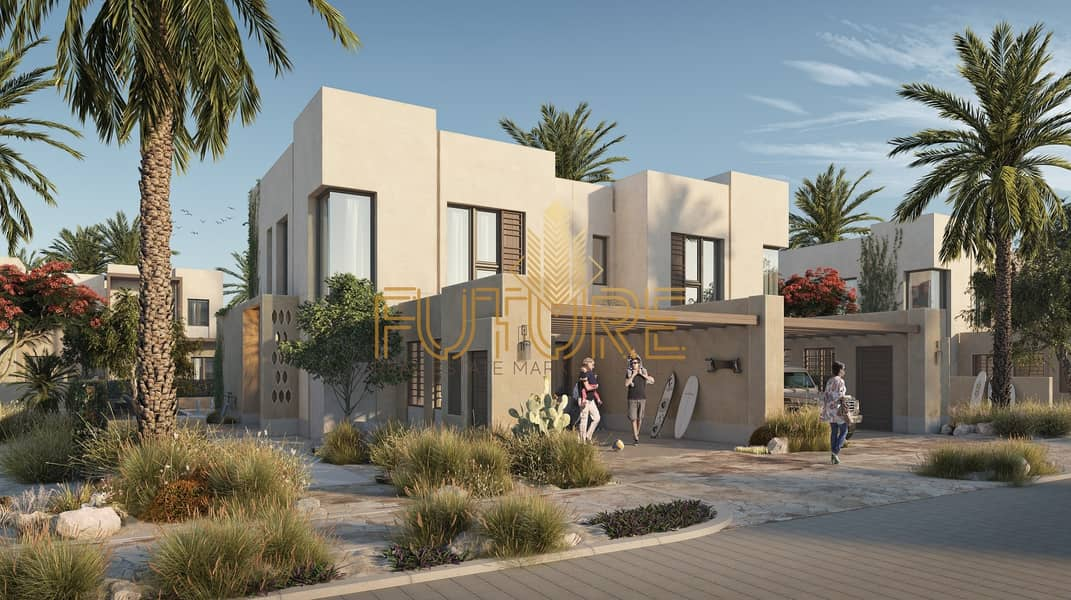 best second home in uae (nature reserve) sea view  villa 2 bedroom 1.9 Million with payment plan