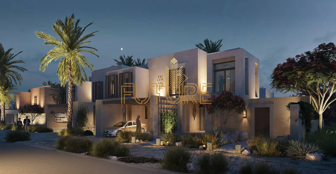 2 best second home in uae (nature reserve) sea view  villa 2 bedroom 1.9 Million with payment plan