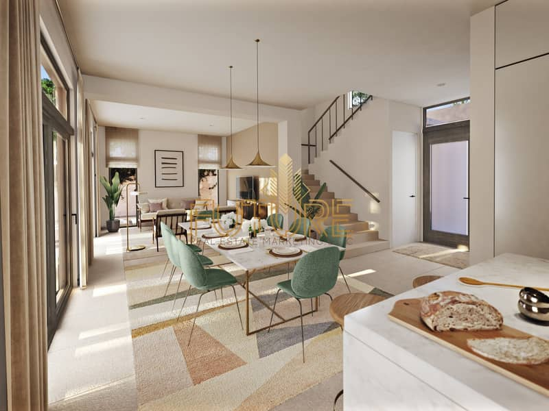 16 best second home in uae (nature reserve) sea view  villa 2 bedroom 1.9 Million with payment plan