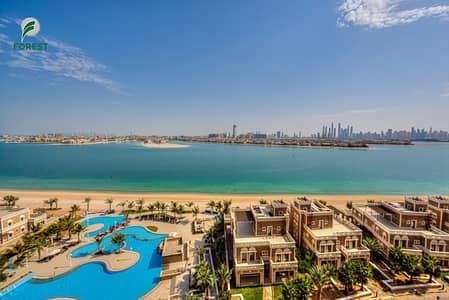 شقة 2 غرفة نوم للايجار في نخلة جميرا، دبي - Fully Furnished 2BR with Full Sea View | Vacant