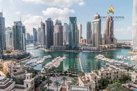 2 Bedroom Flat for Rent in Dubai Marina, Dubai - Full Marina View 2Br+S