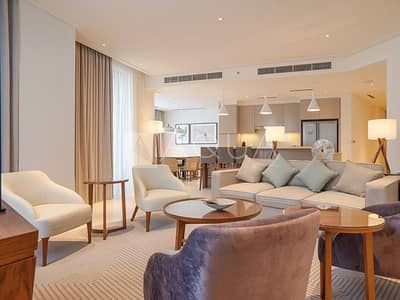 High Floor 3 Bed + Maids with Burj and Fountain