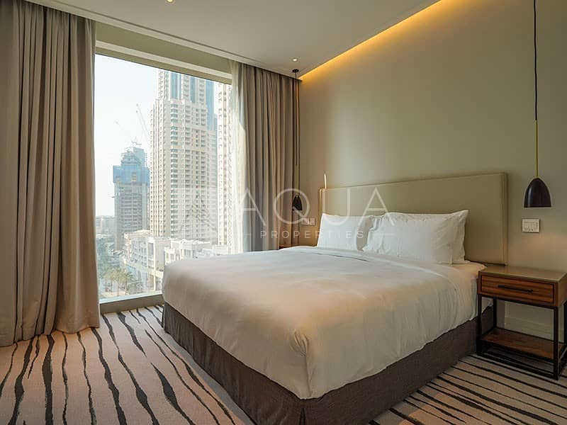 10 High Floor 3 Bed + Maids with Burj and Fountain
