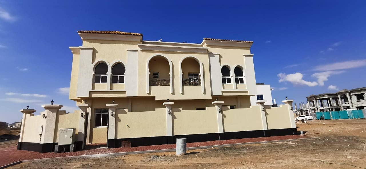 Villa for sale in the corner of two streets, the second piece of the neighbor street