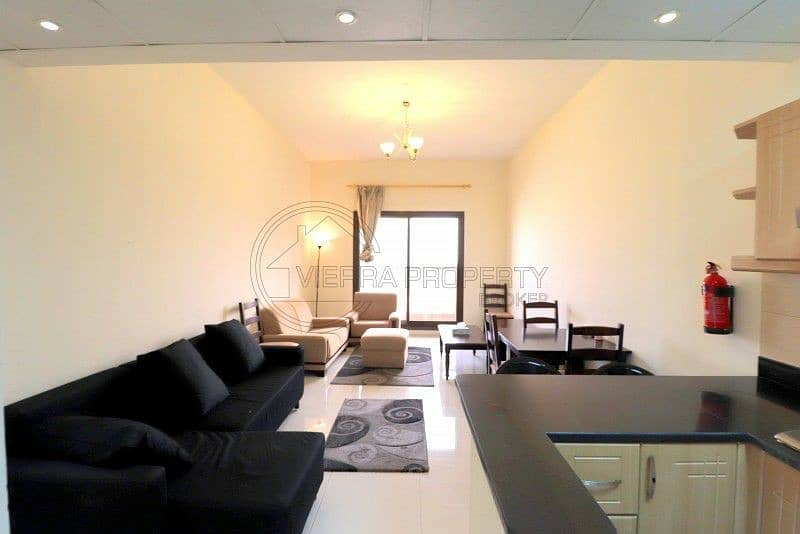 Fully Furnished  One B/R Vacant in Sports City