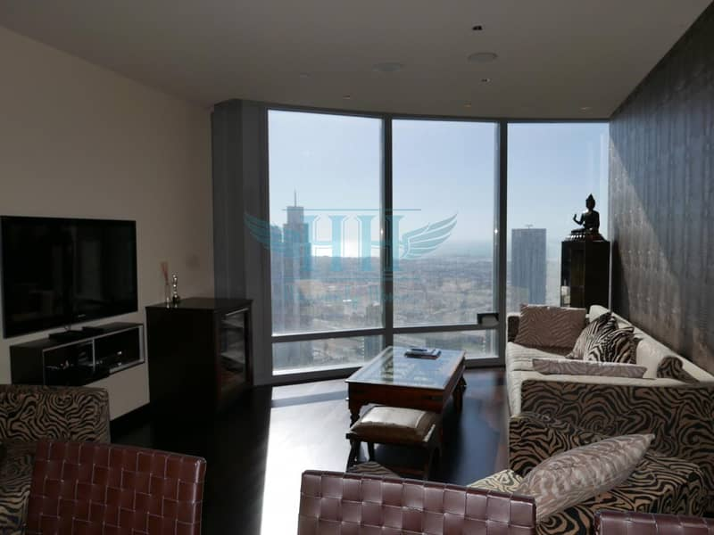The Iconic Burj Khalifa I  Sea View and Opera View from High Floor I Stylish Furniture