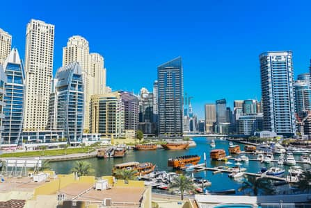 Studio for Sale in Dubai Marina, Dubai - Full Marina View / Rented Studio / DEC Tower
