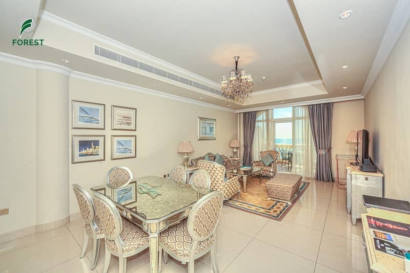 2 Sea View Fully Furnished 2 Bedroom on Mid Floor