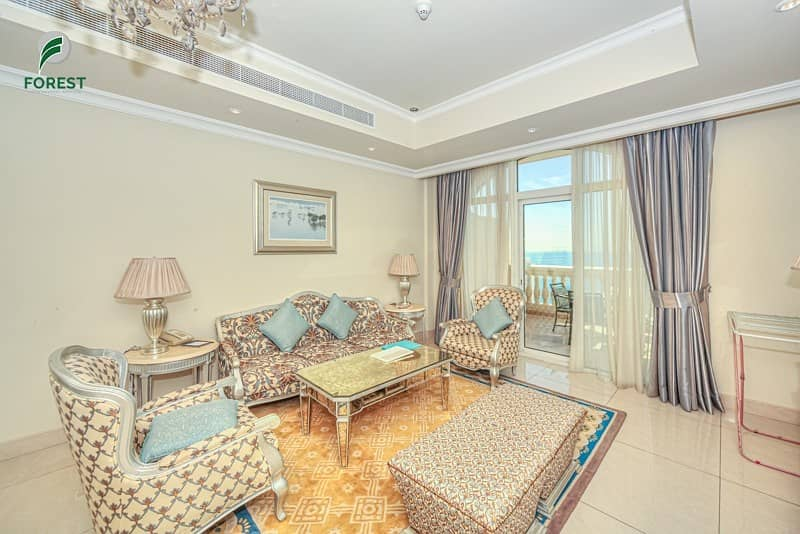 Sea View Fully Furnished 2 Bedroom on Mid Floor