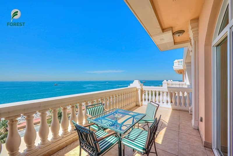 14 Sea View Fully Furnished 2 Bedroom on Mid Floor