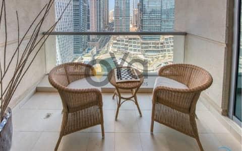 شقة 1 غرفة نوم للايجار في دبي مارينا، دبي - Stunning Fully Furnished 1 bedroom with Balcony| Marina View