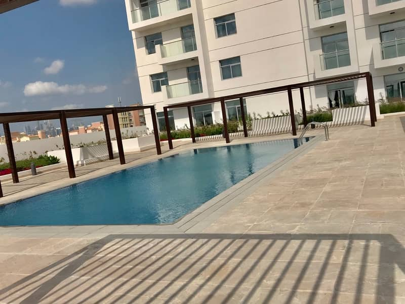 11 Candace Acacia||Exclusive furnished Studio with big balcony chiller & Pool View AED.580