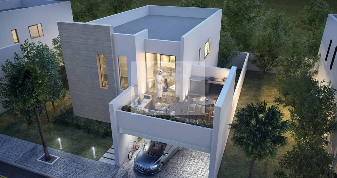 Move immediately in a faboulus 3 bedrooms corner villa with free for life Service charges