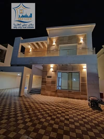 5 Bedroom Villa for Sale in Al Mowaihat, Ajman - For sale villa in Ajman freehold from the owner without down payment for a classic design villa and super deluxe finishing