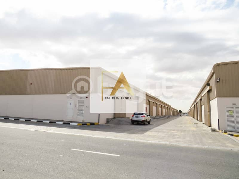 2 000 sq.ft Warehouse For Industrial Purpose For Rent in Al sajja in Emirates Road
