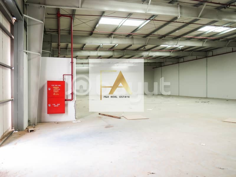 12 000 sq.ft Warehouse For Industrial Purpose For Rent in Al sajja in Emirates Road