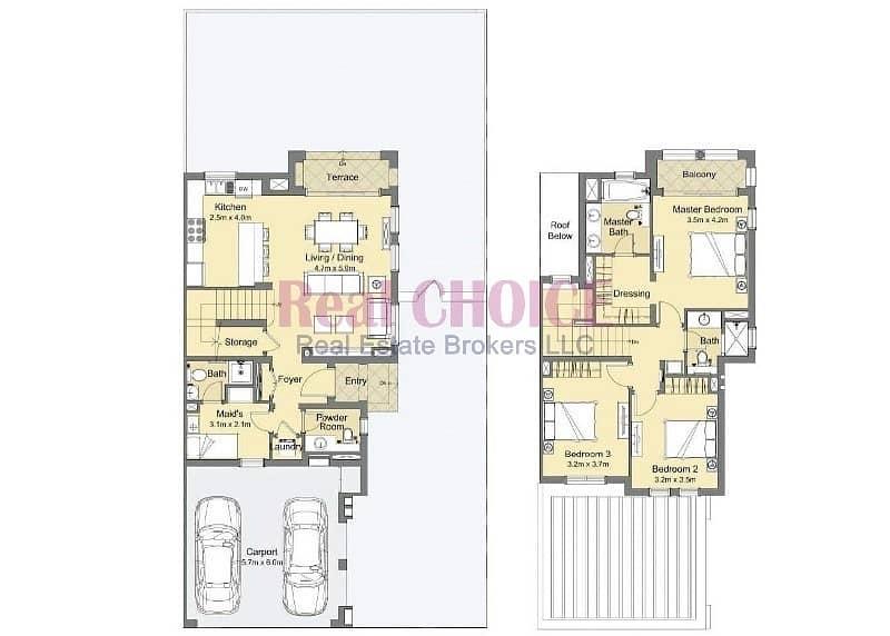 10 Huge Townhouse 3BR + maid | 75% PH-PP | Dubai land