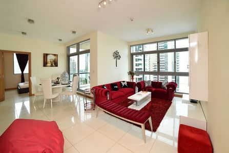 3 Bedroom Apartment for Rent in Dubai Marina, Dubai - Living Area