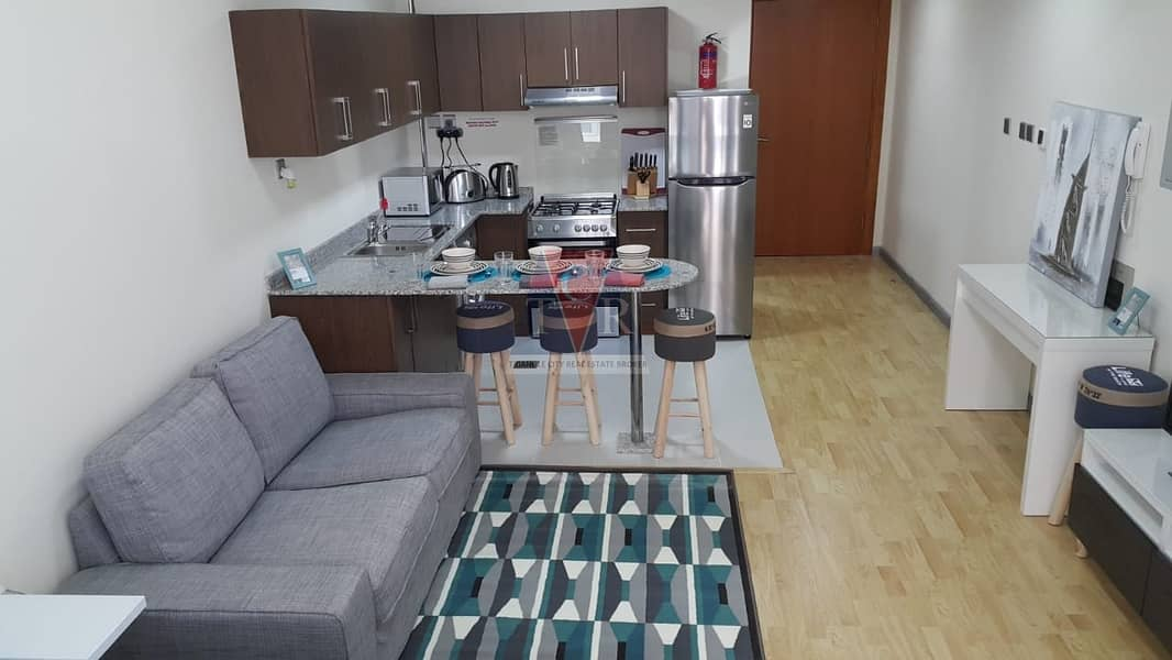 well maintained studio with balcony binghatti apartments silicon oasis