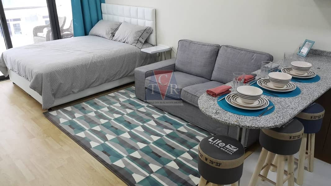 2 well maintained studio with balcony binghatti apartments silicon oasis