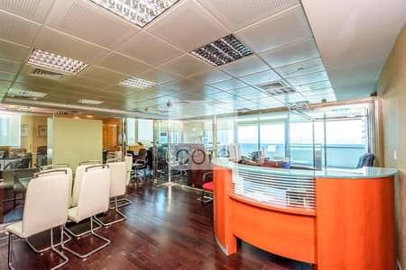 Office for Sale in Jumeirah Lake Towers (JLT), Dubai - Fitted and partitioned office in Indigo Icon
