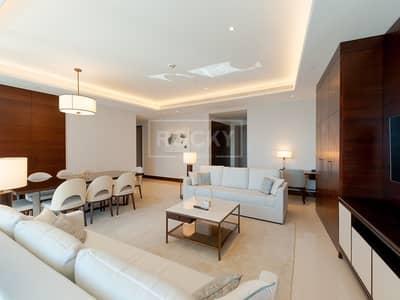 فلیٹ 3 غرف نوم للايجار في وسط مدينة دبي، دبي - Higher Floor | Furnished | 3-Bed | Burj Khalifa View