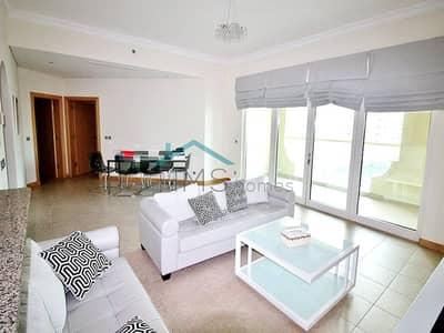 شقة 2 غرفة نوم للايجار في نخلة جميرا، دبي - Shoreline E Type Right Hand Side