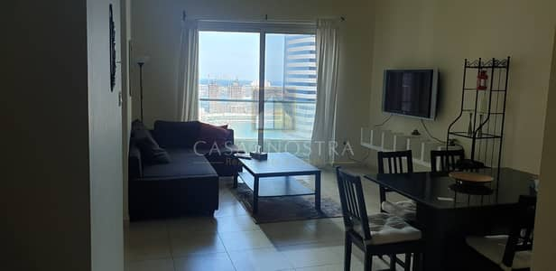 Partial sea view Furnished 2BR on Higher floor