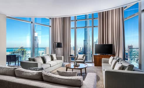 5 Bedroom Penthouse for Rent in Downtown Dubai, Dubai - Fully Furnished|Full Burj & Fountain View