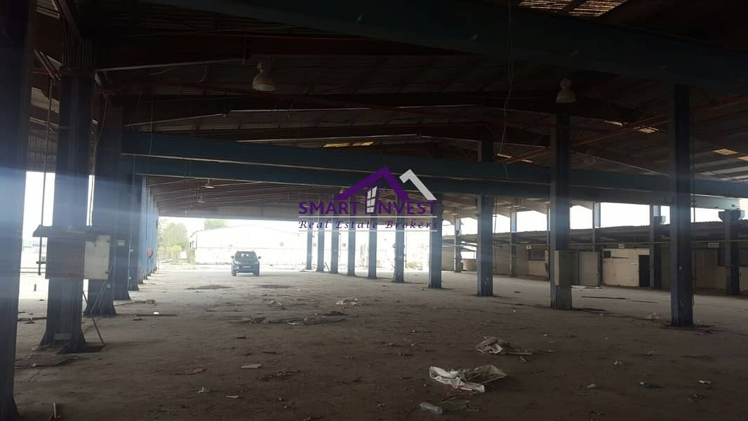 Warehouse with SHED for sale in Sharjah Industrial area for 11.6M